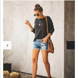 [VICI] NWT Alyssia Distressed Denim Shorts